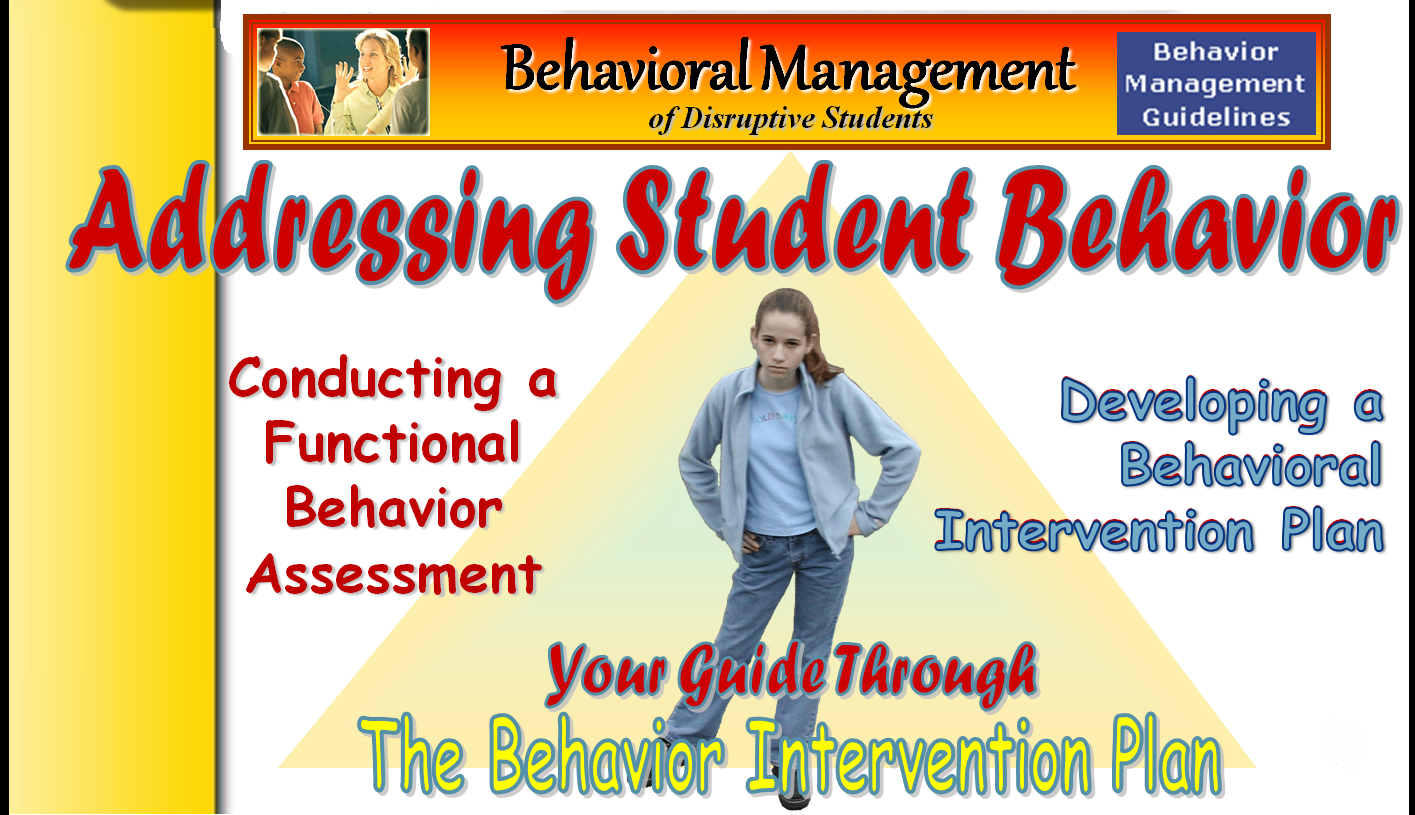 Behavioral Management of Disruptive Students