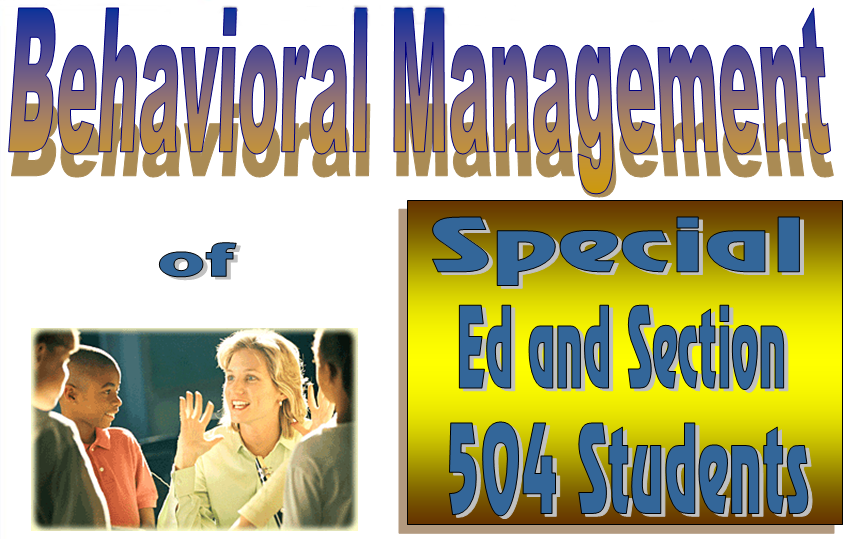 Behavioral Management SE & 504