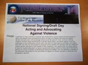 Signings - Pledging to Stop Sexual Violence