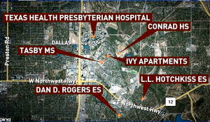Dallas Schools Students attended after contact with Ebola Patient