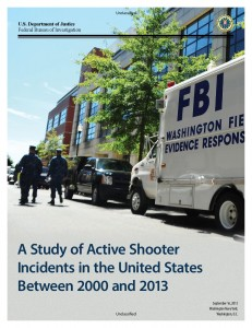 Summarization of an FBI study of active shooter incidents